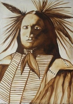 """sioux Indian"" Original Oil Painting By William Verdult"