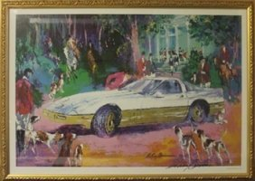"Lithograph ""rendezvous A La Corvette"" After Leroy"