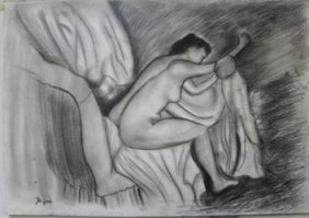 Pastel Painting On Paper By Edgar Degas