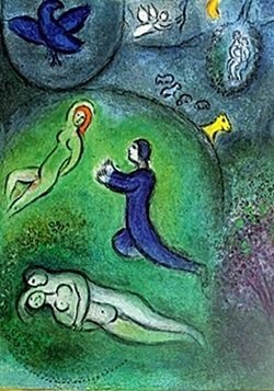 Lithograph By Marc Chagall- Daphnis And Lycenion