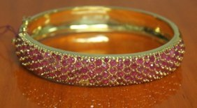 Beautiful 14kt Gold Bracelet With Ruby