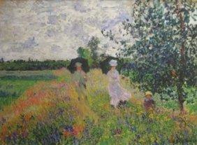 Promenade, Near Argenteuil - Claude Monet