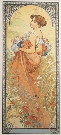 Lithograph Summer - Alphonse Mucha