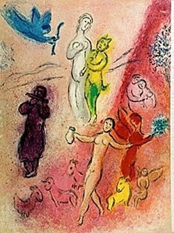 Lithograph By Marc Chagall- The Syrinx Fable