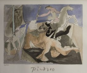 "Lithograph ""composition With Minotaur"" By Pablo Picasso"