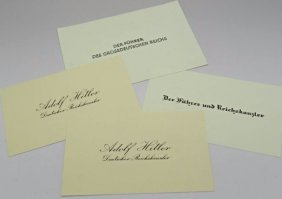 Adolf Hitler Calling Cards