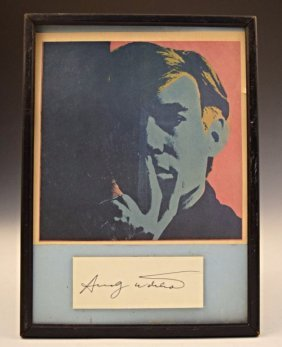 Andy Warhol Autograph