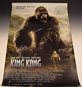 King Kong Cast Signed Movie Poster