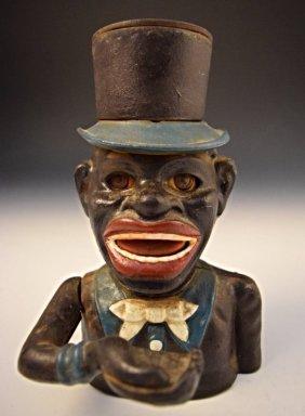 Black Americana Cast Iron Bank