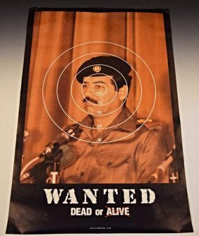 Saddam Hussein Wanted Poster