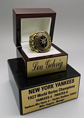 Lou Gehrig Yankees Collector's Ring