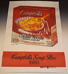 Andy Warhol Signed Campbell's Soup Poster