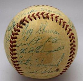 1956 Yankees Team Signed Baseball