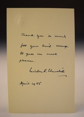 Winston Churchill Signed Letter