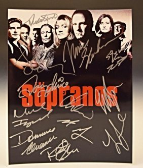 The Sopranos Cast Signed Photo