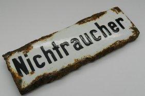 Rare Auschwitz Death Camp Train Sign