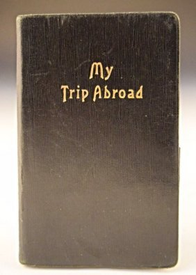 Important Travel Diary, Benito Mussolini, Pope, Etc