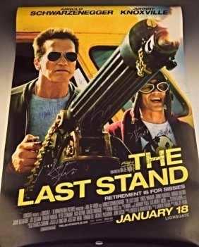 The Last Stand Cast Signed Movie Poster