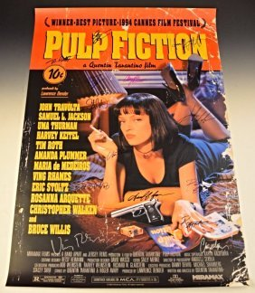 Pulp Fiction Cast Signed Movie Poster