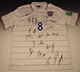 Team Usa Home Signed Jersey