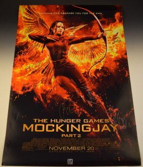 The Hunger Games Cast Signed Movie Poster