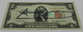 Andy Warhol Signed Two Dollar Bill