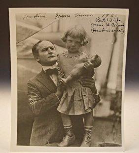 Marie Hinson (harry Houdini's Niece) Signed Photo