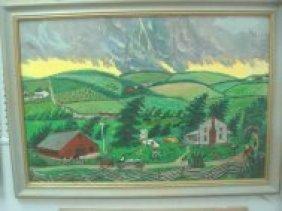 """Nan Phelps """"A Tornado Cloud Approcation"""" 1982. Pain"""