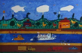 """Chief-""""Bayou Queen-"""" 1975. Outsider Art"""
