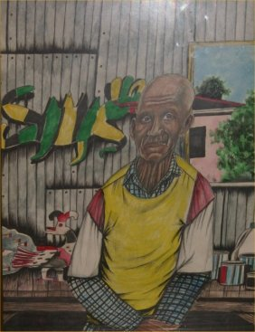 """Roy Ferdinand-Outsider Art-""""David Butler"""". Marker An"""