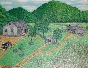 """Geneviev Adkins Wilson-Outsider Art-""""A Weekend Visi"""