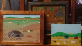 Richard Bosco Chamblers-Outsider Art-3 Pc Untitled