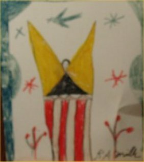 """RA Miller-Outsider Art-""""Lord Love You"""" Paint On Tin"""
