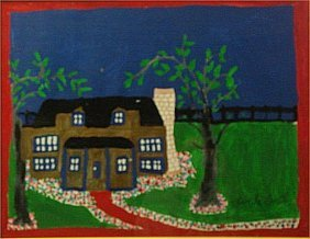 "Lucille Smith-Outsider Art-""Untitled"" Marker On Pa"