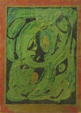 "Albert Wagner-Outsider Art-""Untitled"" Paint On Pap"