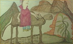 "GC Deprie-Outsider Art-""Untitled"" Crayon On Paper,"