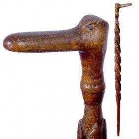 Wacky Wacky Bird-C. 1890-A Very Nicely Carved Four S