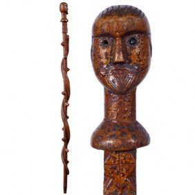 Primitive Man With Snake-C. 1899-A Wonderful 19th C