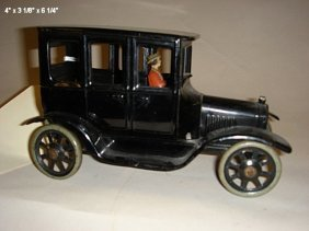 Bing, Four Door Model T's With Driver, Tin