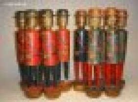 Ten Carved Wooden And Decorated English Bowling P