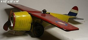 Pressed Steel Airplane With Hill Climbing Mechani