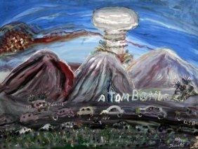 "William Thomas Thompson-""Atom Boom"". Paint On Canva"