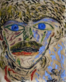 "Scottie Higgins-""Face"". Paint On Canvas, Signed. P"