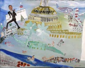 "William Thomas Thompson-""Washington DC"". Paint On"