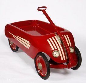 Child's Wagon Airflow Art Deco