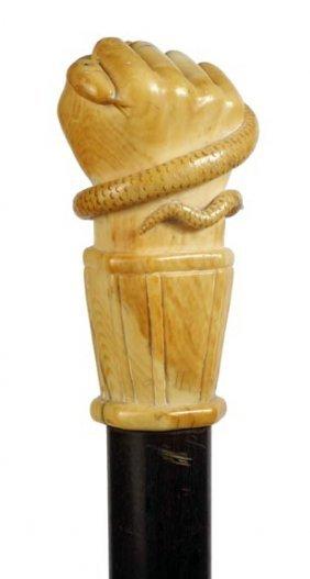 Nautical Ivory Fist Cane