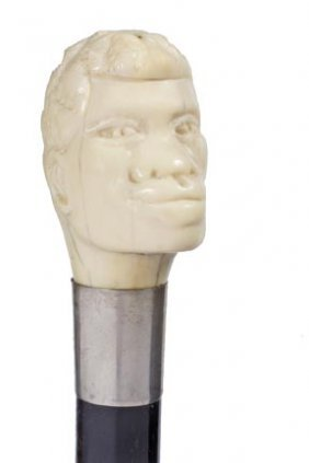 African-American Ivory Cane- Early 20th Century- Ca