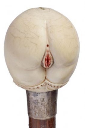 Erotic Female Ivory Cane- Victorian- This Is The Be