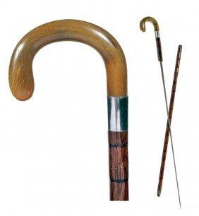 Toledo Sword Cane-Ca. 1890-A Beautiful Honey Horn H
