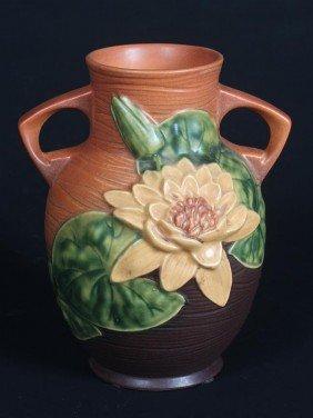 Roseville Water Lilly Vase
